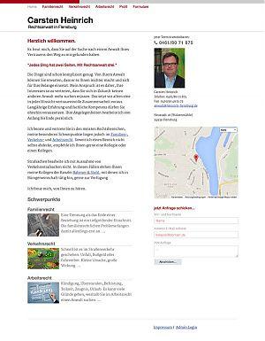 Homepage RA Heinrich in Flensburg